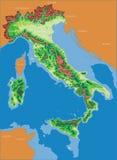 итальянская карта Италии Стоковые Изображения RF