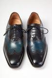 итальянские ботинки людей s Стоковое фото RF