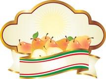 итальянские груши ярлыка Стоковая Фотография