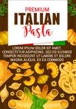 Итальянские макаронные изделия, наградная кухня Италии иллюстрация вектора