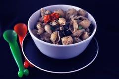 итальянские макаронные изделия обеда Стоковые Фотографии RF