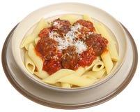 итальянские макаронные изделия meatballs Стоковая Фотография