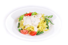 итальянские макаронные изделия вкусные Стоковое Фото