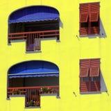 итальянские окна Стоковые Изображения RF