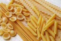 итальянские смешанные макаронные изделия Стоковые Фото