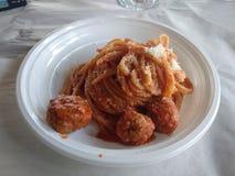 Итальянские спагетти с фрикадельками Стоковая Фотография RF