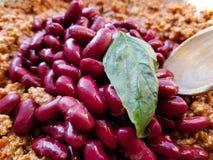 Итальянский вегетарианский обед с местными продуктами Стоковое Изображение