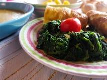 Итальянский вегетарианский обед с местными продуктами Стоковое Изображение RF
