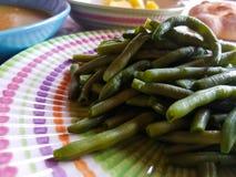 Итальянский вегетарианский обед с местными продуктами Стоковые Фотографии RF