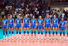 итальянский волейбол команды Стоковое Фото
