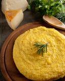 итальянский желтый цвет polenta Стоковое Изображение