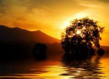 итальянский заход солнца Стоковые Фотографии RF