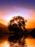 итальянский заход солнца Стоковое фото RF