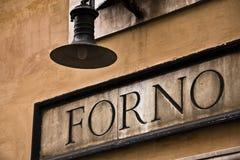 Итальянский знак хлебопекарни Стоковые Изображения