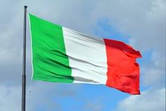Итальянский национальный флаг - Италия Стоковые Фотографии RF
