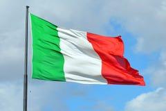 Итальянский национальный флаг - Италия Стоковое Изображение RF