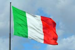 Итальянский национальный флаг - Италия Стоковые Изображения RF