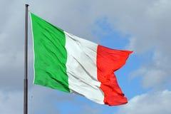 Итальянский национальный флаг - Италия Стоковое фото RF