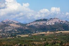 итальянский панорамный взгляд городков Стоковое фото RF