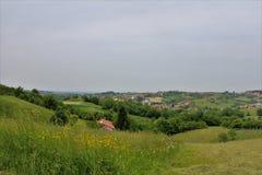 Итальянский пасмурный ландшафт Стоковое Фото