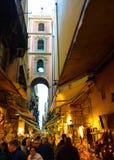 Итальянский рынок побрякушек улицы, перемещение Неаполь, Неаполь, Италия Стоковое Фото