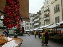 итальянский рынок Стоковые Фотографии RF