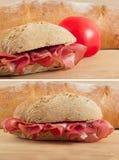 итальянский сандвич Тоскана prosciutto panin Стоковое фото RF
