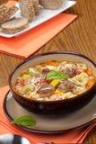 итальянский суп meatball Стоковое Изображение RF