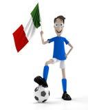 итальянский футбол игрока иллюстрация вектора