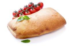Итальянский хлеб ciabatta с базиликом Стоковое фото RF