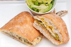 Итальянский цыпленок сандвича panini ciabatta Стоковая Фотография RF