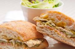 Итальянский цыпленок сандвича panini ciabatta Стоковое фото RF