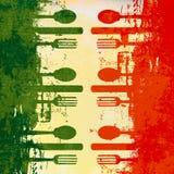 итальянский шаблон меню Стоковая Фотография