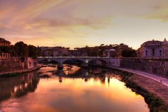 итальянское река tiber Стоковая Фотография