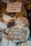Итальянское салями для сбывания стоковая фотография rf