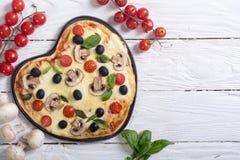Итальянское сердце пиццы Стоковое Изображение RF