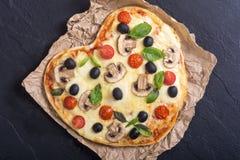 Итальянское сердце пиццы Стоковая Фотография RF
