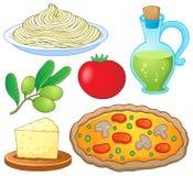 Итальянское собрание 1 еды Стоковая Фотография RF