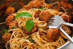 Итальянское спагетти Стоковая Фотография