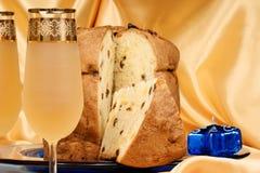 итальянское spumante panettone Стоковое Изображение RF