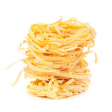 итальянское tagliatelle макаронных изделия гнездя Стоковые Фото