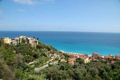 итальянское varigotti riviera панорамы стоковая фотография