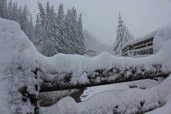 Италия ландшафта часы зимы сезона Стоковая Фотография RF