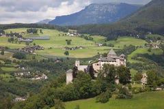 Италия, альт Адидже, Fiè am Sciliar, замок Presule Стоковые Изображения RF