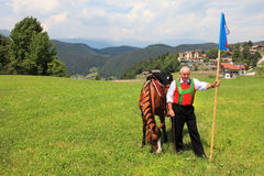 Италия, альт Адидже Trentino, Siusi allo Sciliar Стоковая Фотография RF