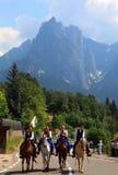 Италия, альт Адидже Trentino, Siusi allo Sciliar Стоковое фото RF