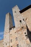 Италия, башни San Gimignano Стоковые Фотографии RF