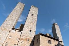 Италия, башни San Gimignano Стоковое Фото