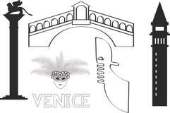 Италия Венеция Venezia иллюстрация вектора