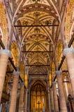 Италия, Верона, базилика Анастасии Стоковое Изображение RF